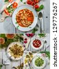 Flavors of Polish soups - stock photo