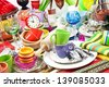 Flea market - Household - stock photo