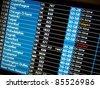 flight schedule information board - stock photo