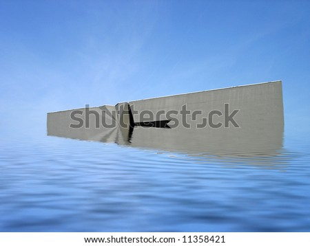 Flooded wall