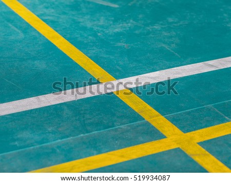 floor of basketball with marking lines