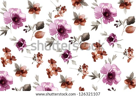 floral design background, vintage and ancient
