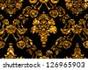 Floral Ornament Bokeh Background Yellow Gold - stock photo