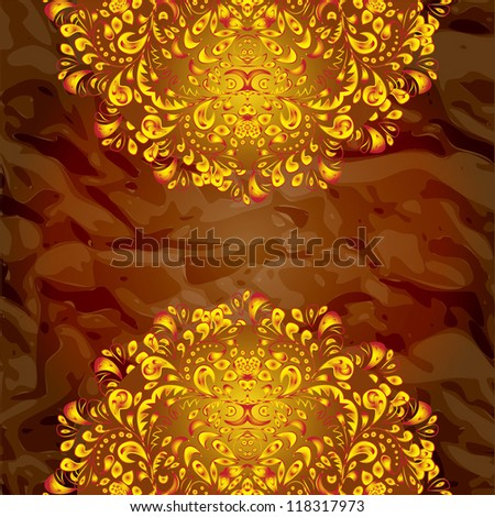 ... pattern gold hohloma border on dark background raster. Rating: 1