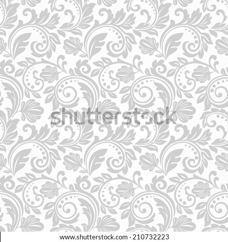 vector floral 3d seamless pattern background stock vector