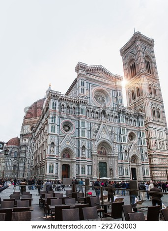 FLORENCE,ITALY - MARCH 15, 2015: Cathedral of Santa Maria del Fiore (Duomo) at dusk, Florence, Italy