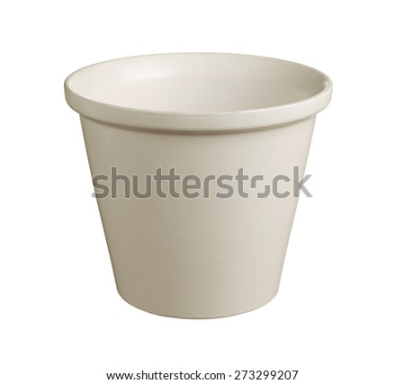 Flower pot isolated on white background