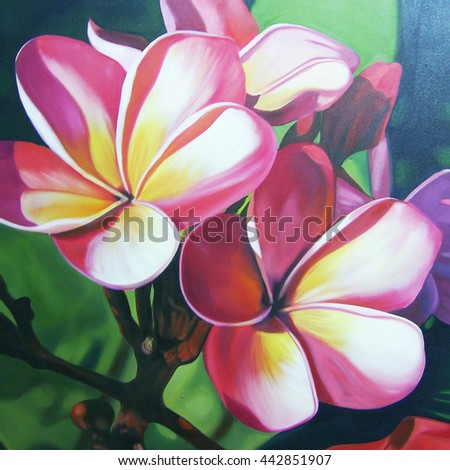 Flowers Oil Painting,illustration,spring,summer