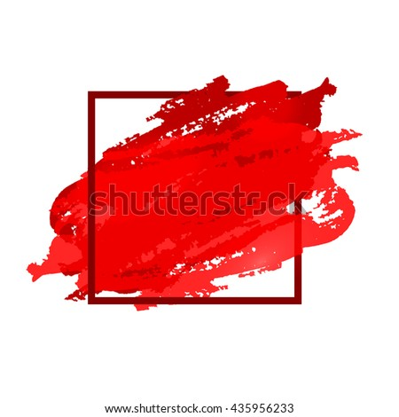 Flyer Template Red Flyer Space Text Stock Vector
