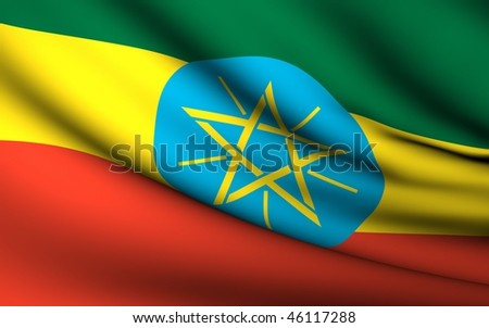 Flying Flag of Ethiopia | All Countries Collection |