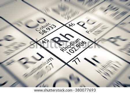 a study on the chemical element rhodium General information contains articles like reader's guide, chemical element , timeline: the discovery of elements, chemical element , and words to know, chemical element.