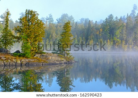 Fog and Mist on Ottertrack Lake in the Boundary Waters