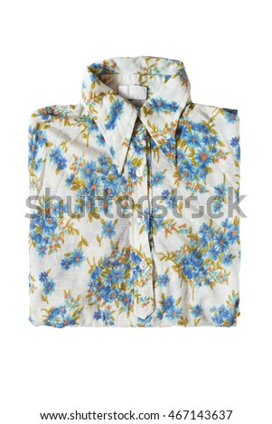 Folded silk blouse isolated over white