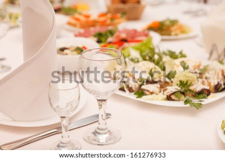food at a wedding party