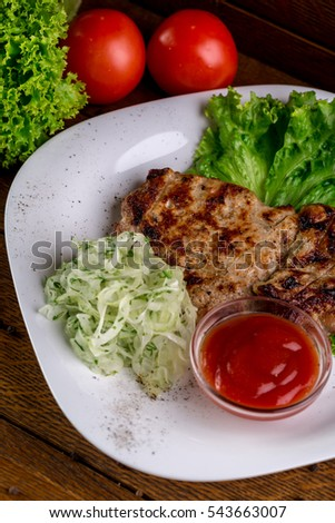 Food composition of grilled meat