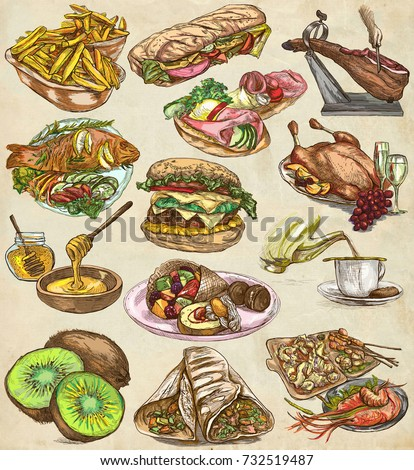 Tea agriculture life farmer tea harvesting stock vector for Art cuisine evolution 10 piece cooking set