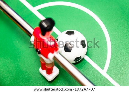 foosball, red player