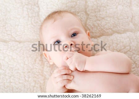 foot in the mouth of the child