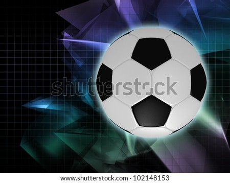 Football on an abstract background