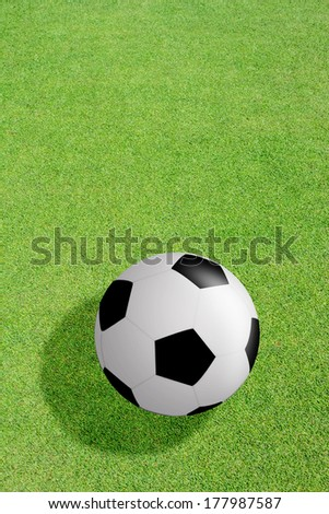 football on grass background