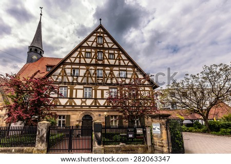 FORCHHEIM, GERMANY - MAY 27 2015: Forchheim Inner City with historical buildings