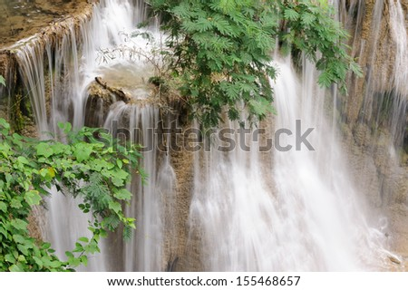 Forest Stream and Waterfall  in thailand