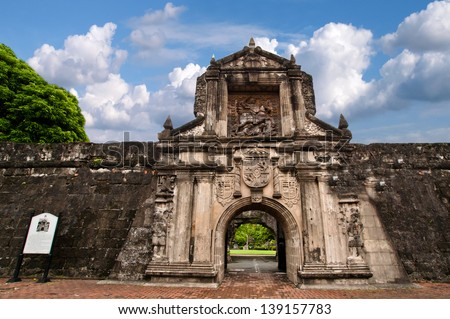 Fort Santiago ,  Intramuros district of Manila , Philippines.Fort Santiago is a citadel which was first built by Spanish conquistador for the new established city of Manila.