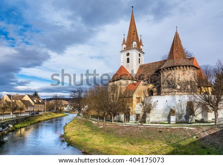 Fortified church of Cristian,Sibiu, Romania
