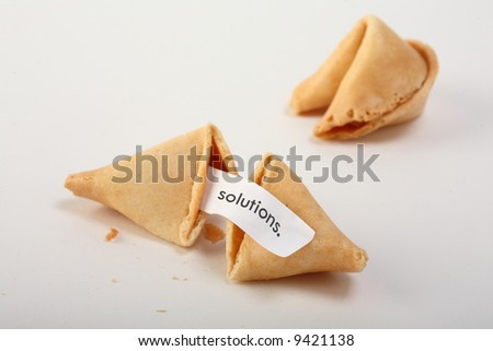 Forune cookies with text
