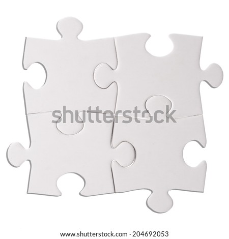 Jigsaw puzzle vector blank simple template stock vector for Puzzle cut out template