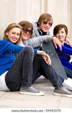 Four Young Teenagers