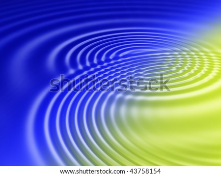 Fractal image of abstract colourful water ripples.