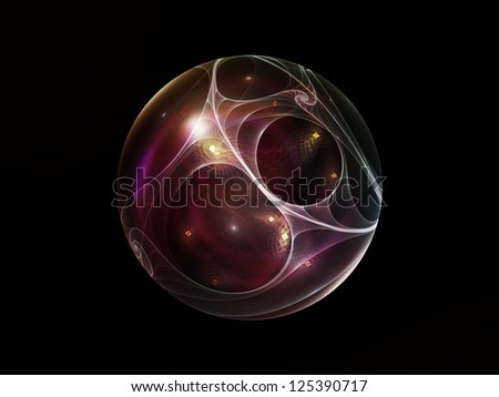 Fractal Sphere Series. Abstract design made of spherical and circular fractal elements on the subject of abstraction, graphic design and modern technology