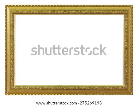 Frame gold and vintage isolated background.
