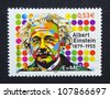 FRANCE - CIRCA 2005: a postage stamp printed in France showing an image of Albert Einstein, circa 2005. - stock photo