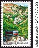 FRANCE - CIRCA 1996: a stamp printed in the France shows Train between Ajaccio and Vizzavona, Centenary of Line, circa 1996 - stock photo