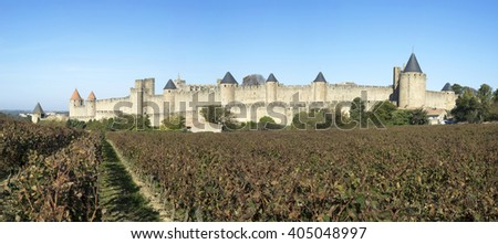France. Historic Fortified city of Carcassonne