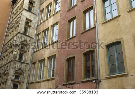 France, Lyon, old houses in quarter Saint Jean