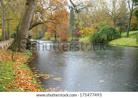 France, the picturesque Meissonier park of Poissy in Ile de France