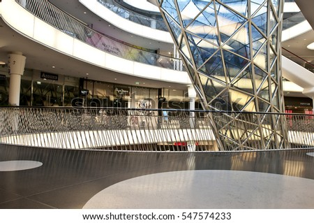 FRANKFURT,GERMANY-JUNE 29:interior of modern building on June 29,2014 in Frankfurt,Germany.