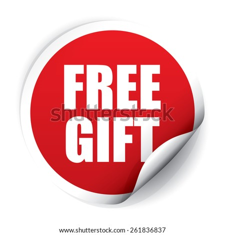Free gift sticker tag vector 261836834 shutterstock free gift sticker and tag red negle Images