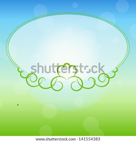Freen frame on nature background.  illustration.