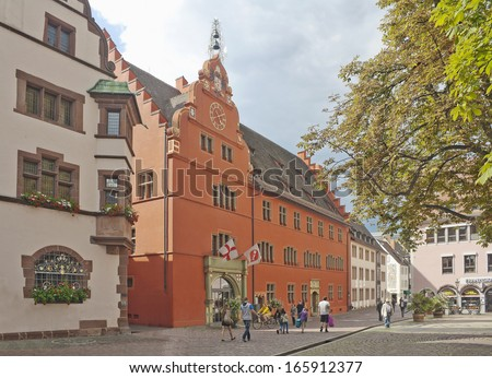 historical merchant hall freiburg im breisgau stock photo 174099926 shutterstock. Black Bedroom Furniture Sets. Home Design Ideas