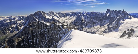 French Alps Mountains near Aiguille du Midi, France, Europe