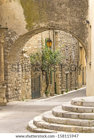 French street in Provence town. France.