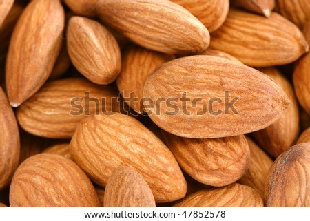 Fresh almonds for backgrounds