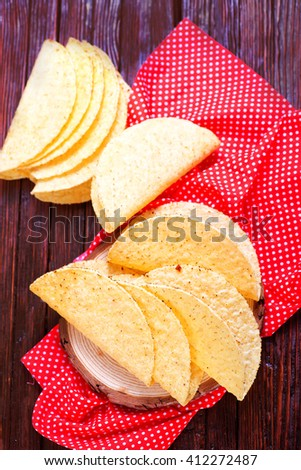 fresh and crunchy delicious mexican taco shells