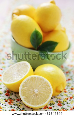 fresh and organic lemon - fruits and vegetables