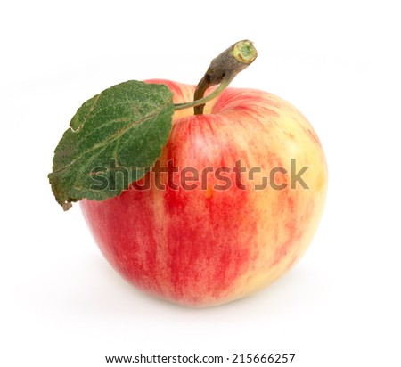 fresh apple isolated on white background