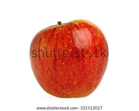 Fresh apple on a white background